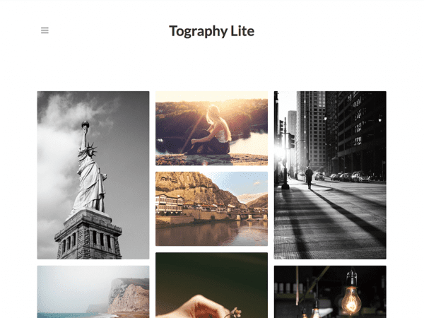 Free Tography Lite WordPress theme