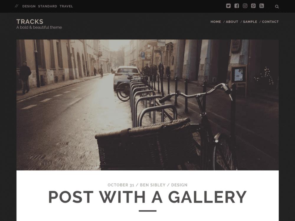 Free Tracks WordPress theme