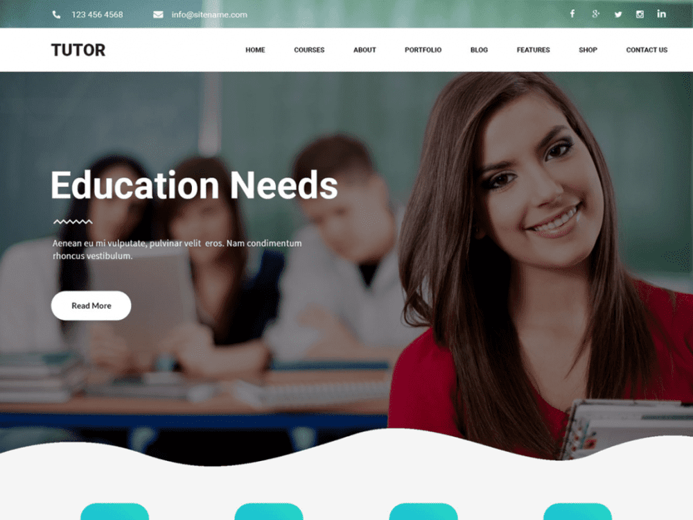 Free Tutor WordPress theme