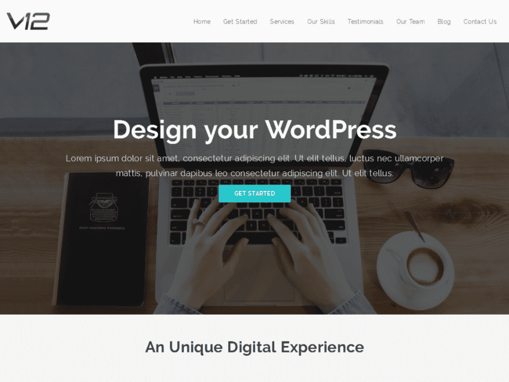Free V12 WordPress theme