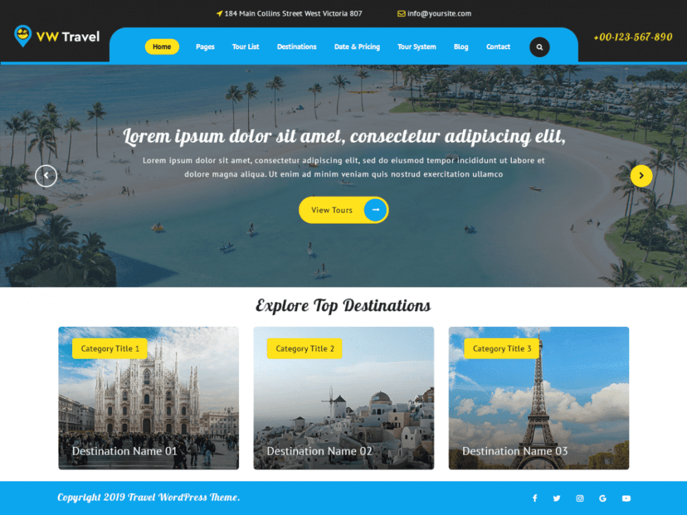 Free VW Travel WordPress theme
