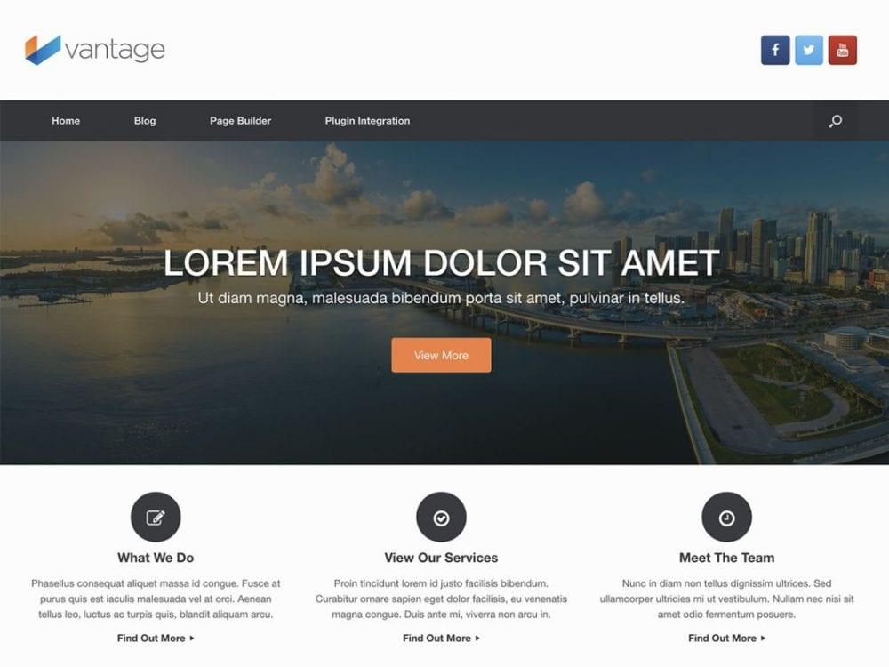 Free Vantage WordPress theme