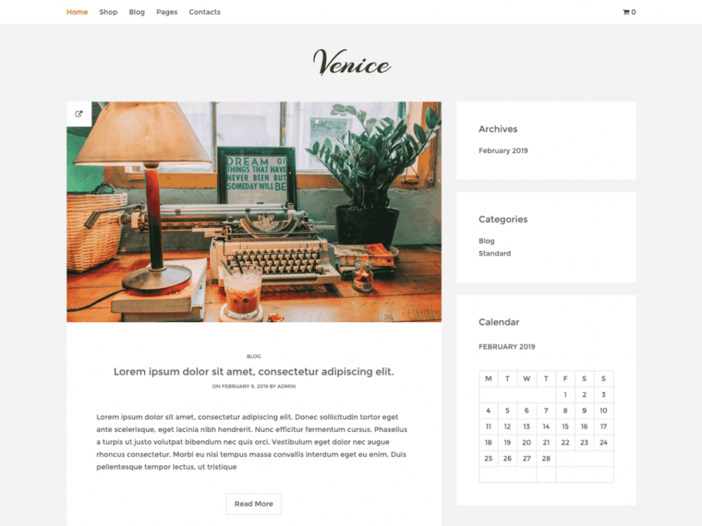 Free Venice Lite WordPress theme