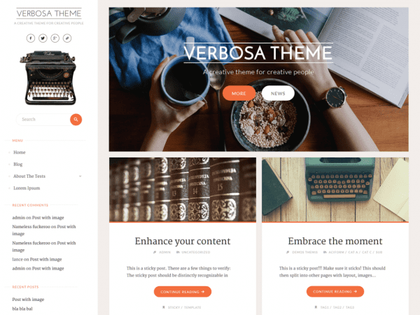 Free Verbosa WordPress theme
