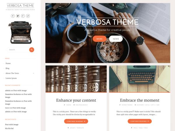 Free Verbosa WordPress theme
