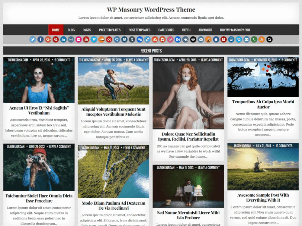 Free WP Masonry WordPress theme