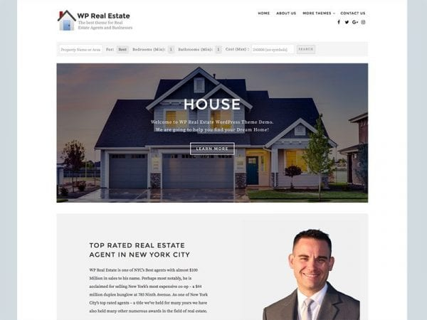 Free WP Real Estate WordPress theme