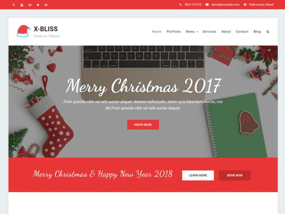 Free X Bliss WordPress theme