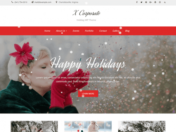 Free X Corporate WordPress theme