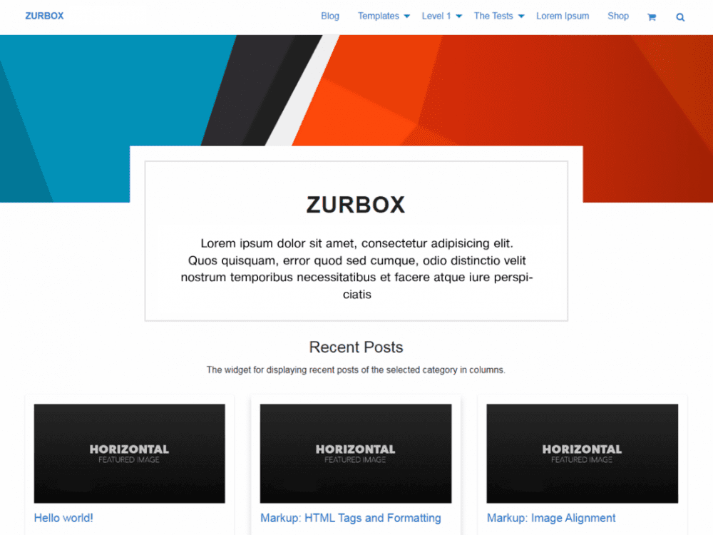 Free Zurbox Lite WordPress theme