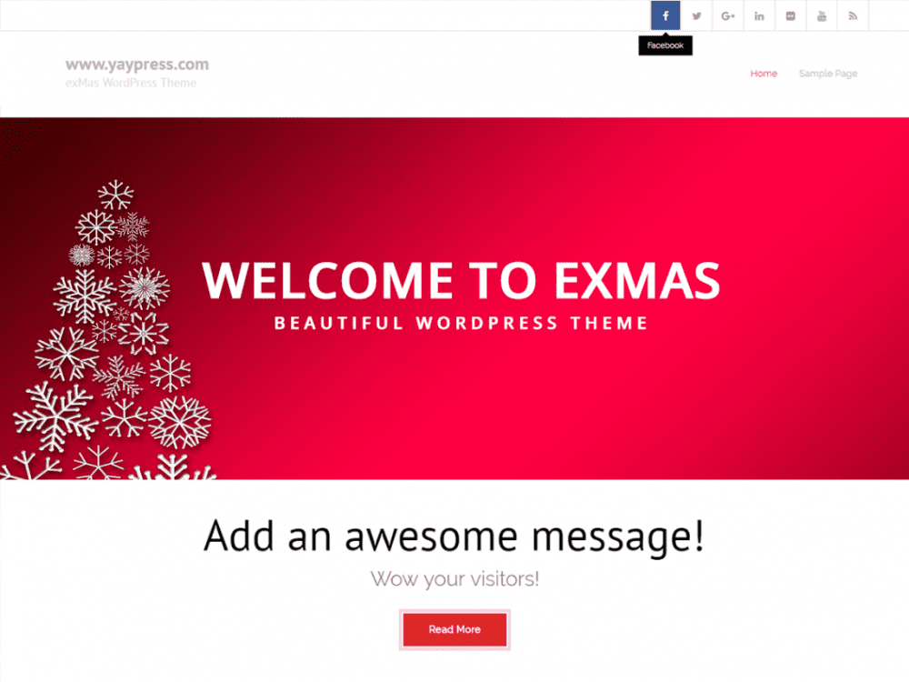 Free exMas WordPress theme