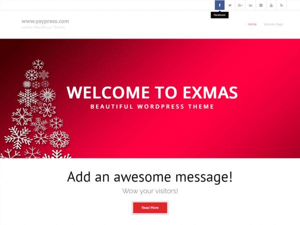 Free exMas WordPress theme