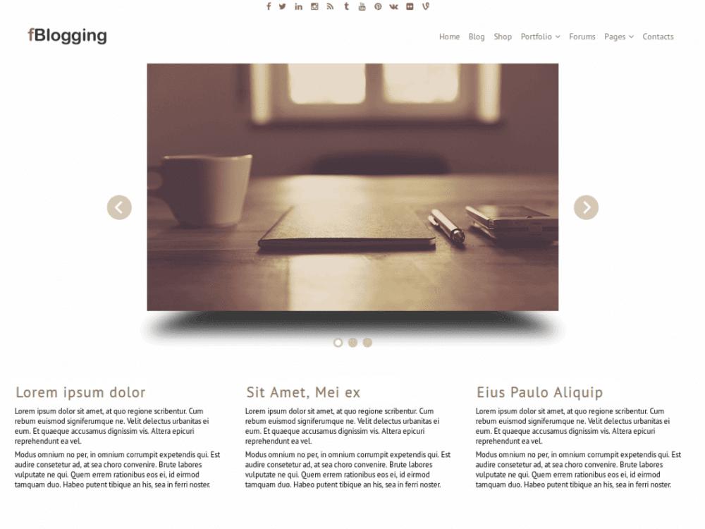 Free fBlogging WordPress theme