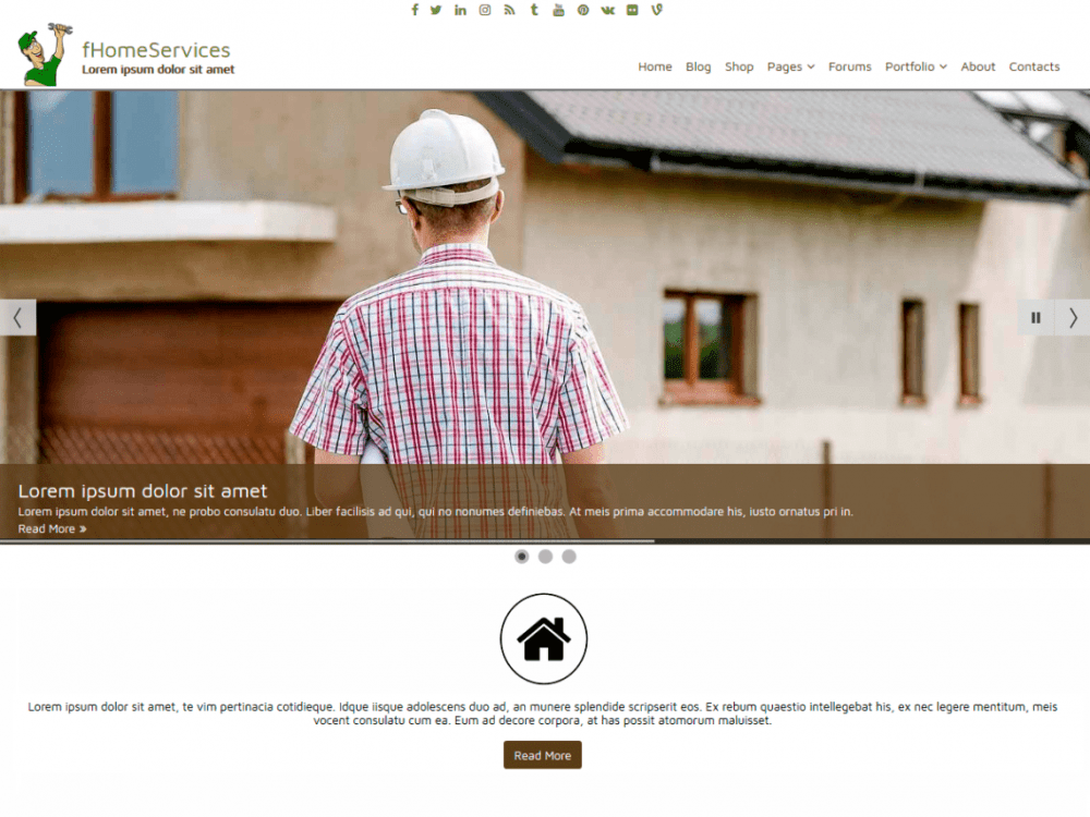 Free fHomeServices WordPress theme