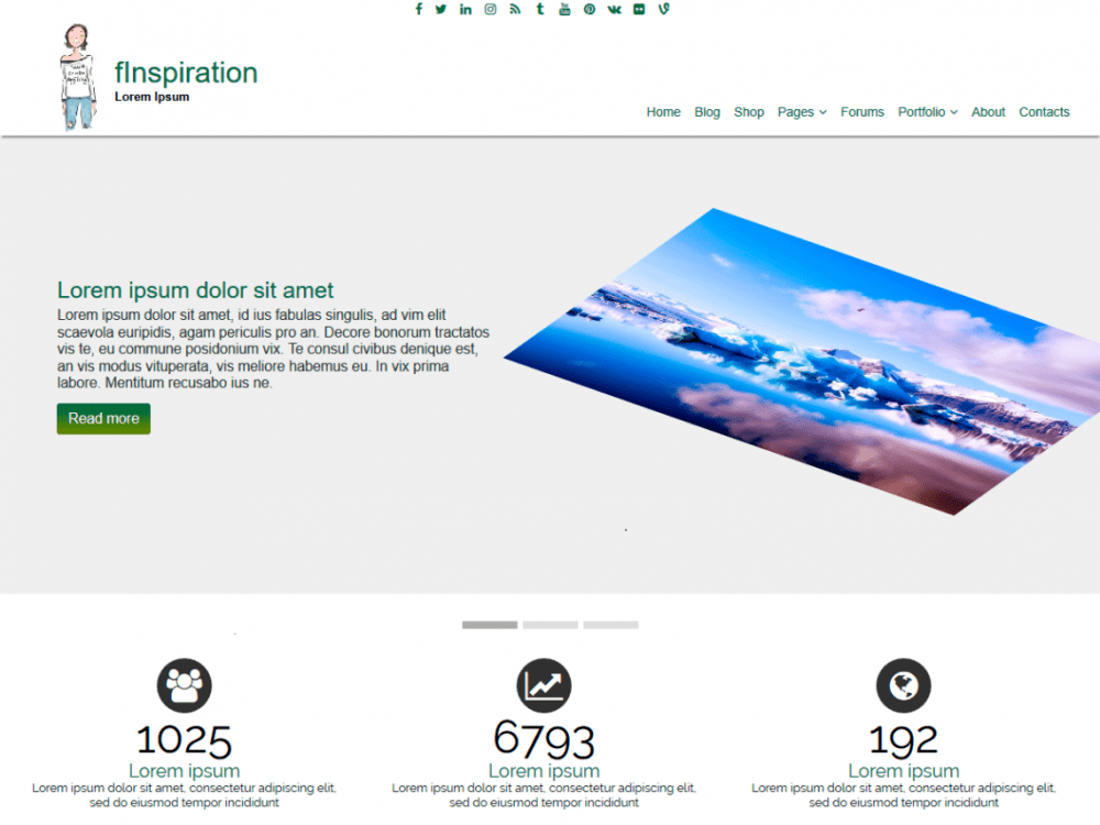 Free fInspiration WordPress theme