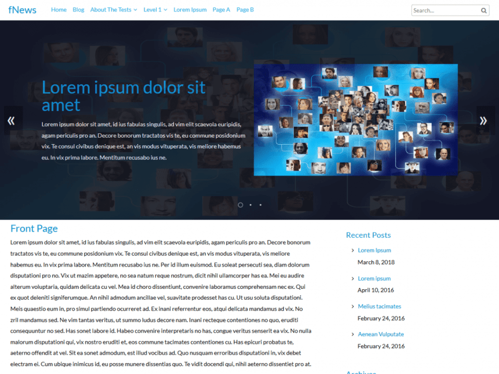Free fNews WordPress theme