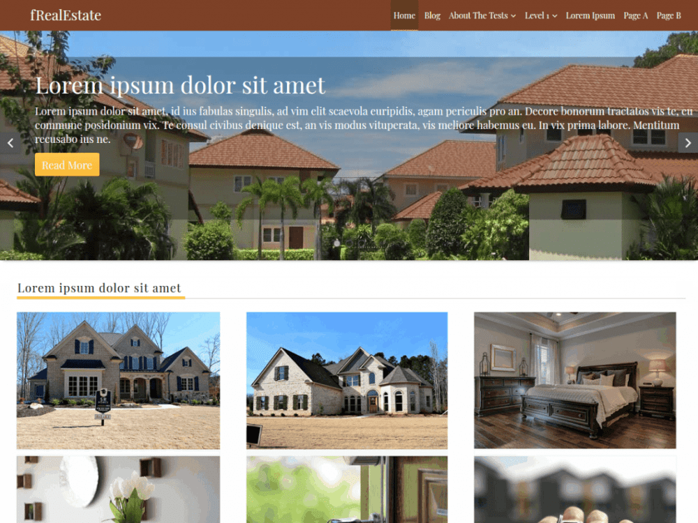 Free fRealEstate WordPress theme