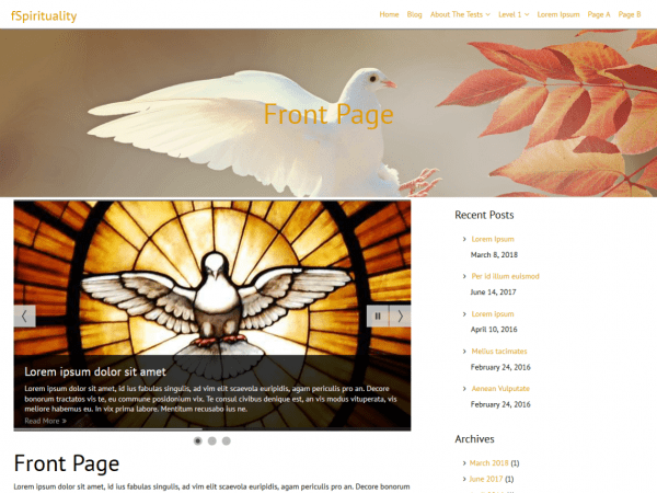 Free fSpirituality WordPress theme