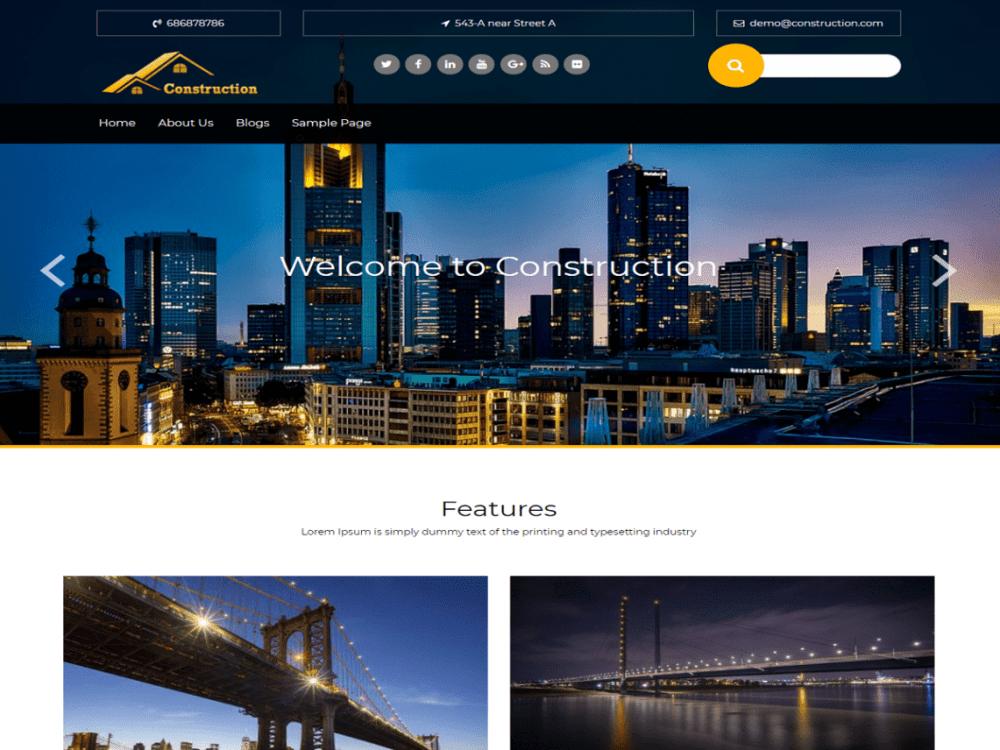 Free wp-construction WordPress theme