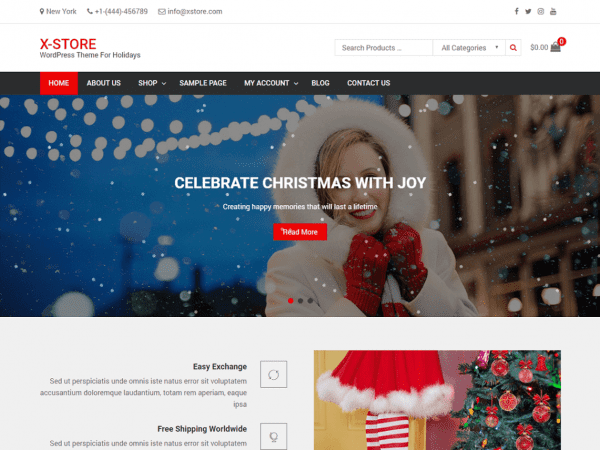 Free x-Store WordPress theme