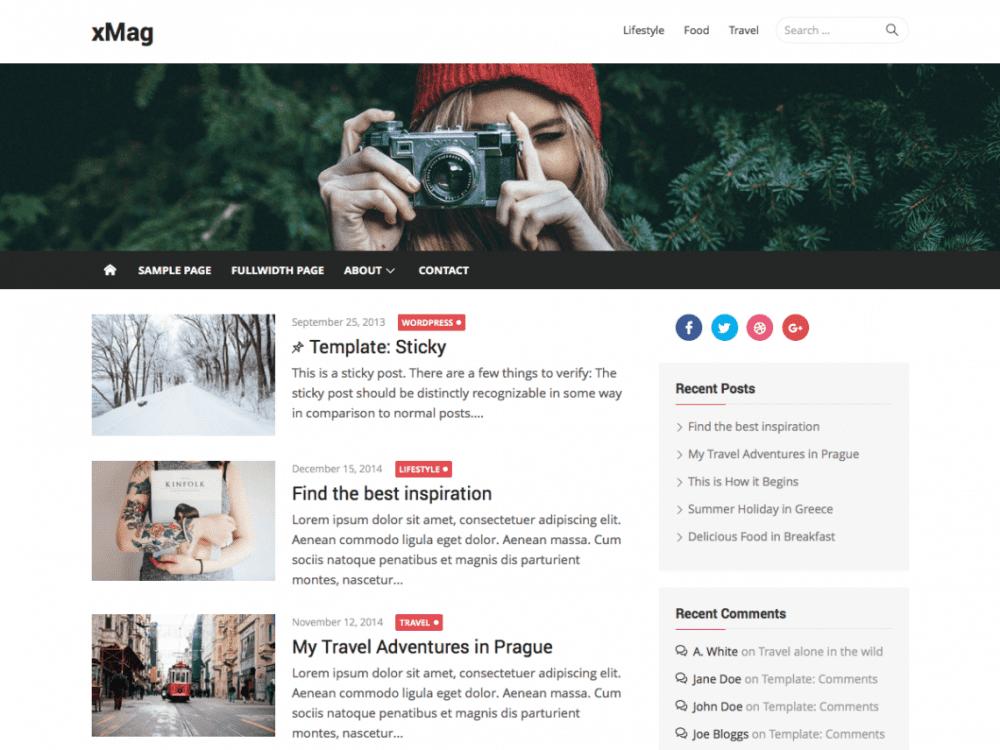Free xMag WordPress theme