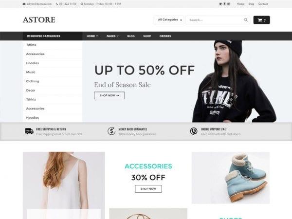Free AStore WordPress theme