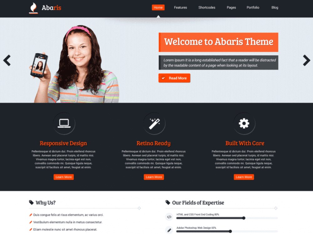 Free Abaris WordPress theme