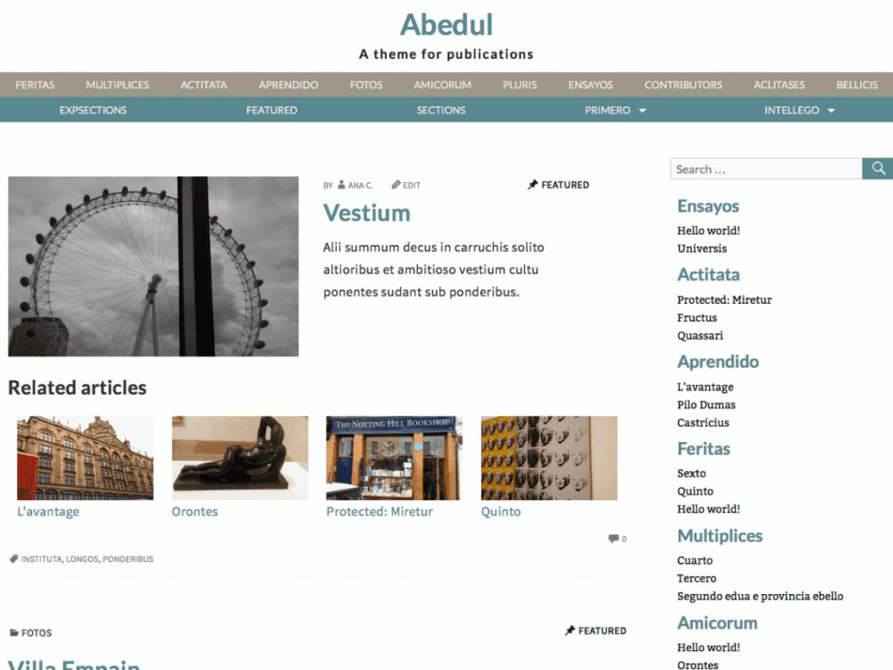 Free Abedul WordPress theme