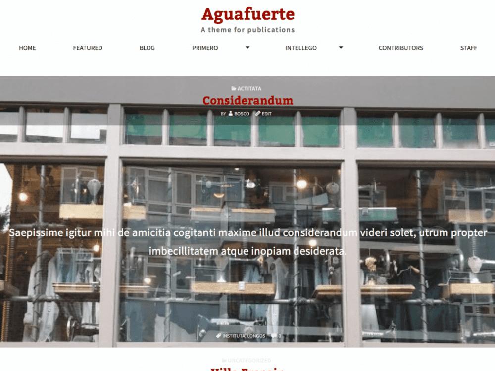 Free Aguafuerte WordPress theme