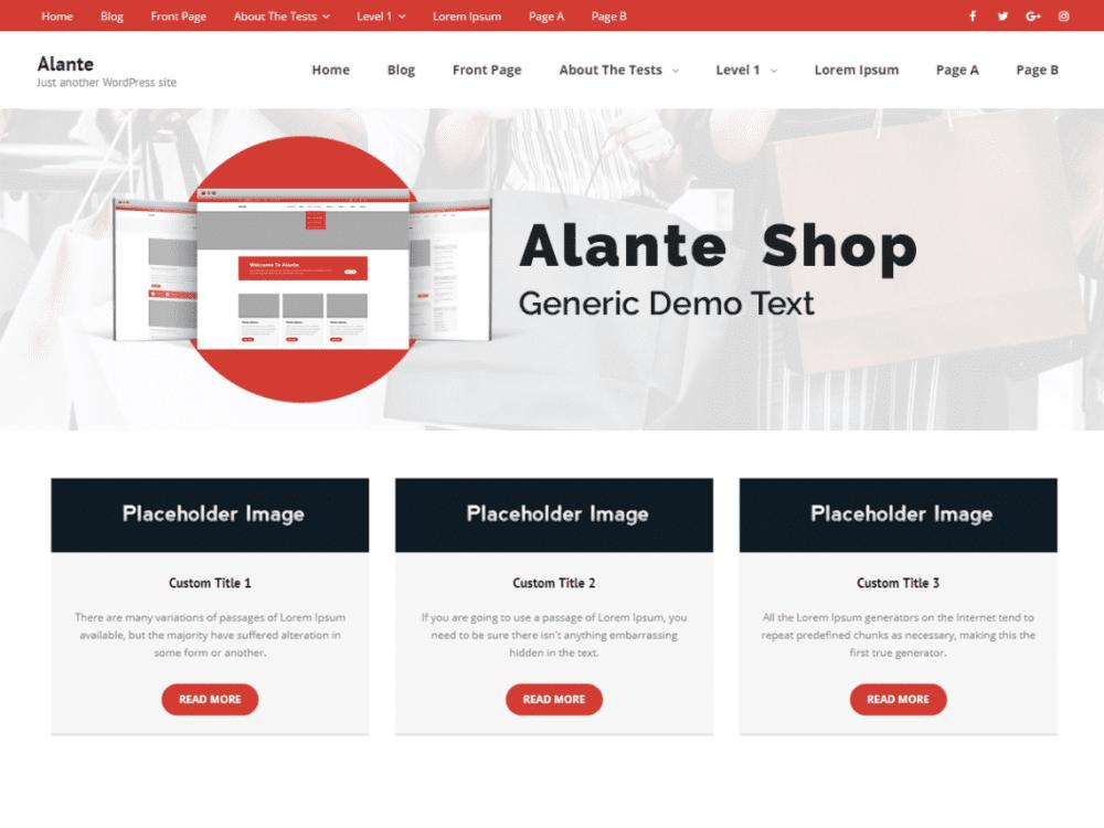 Free Alante Shop WordPress theme
