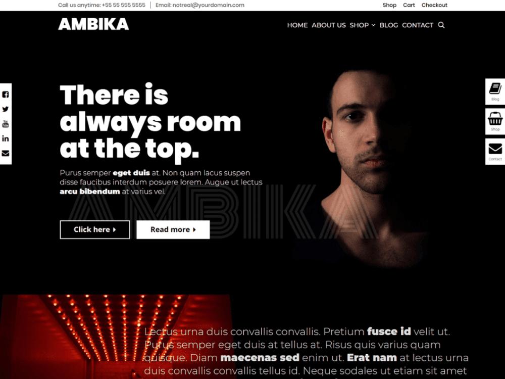 Free Ambika WordPress theme