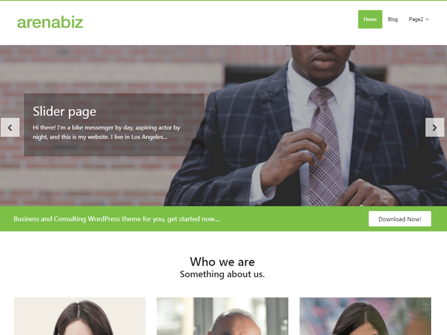 Free ArenaBiz WordPress theme