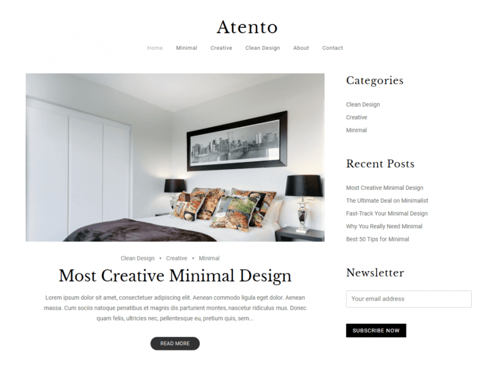 Free Atento WordPress theme