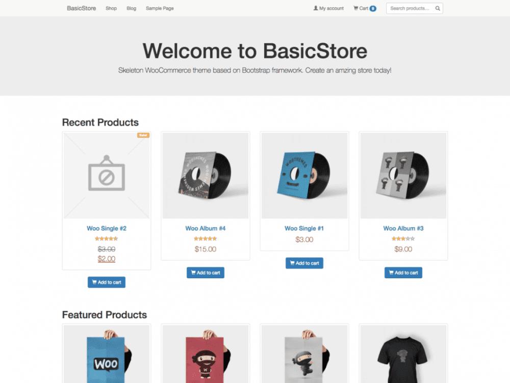 Free BasicStore WordPress theme