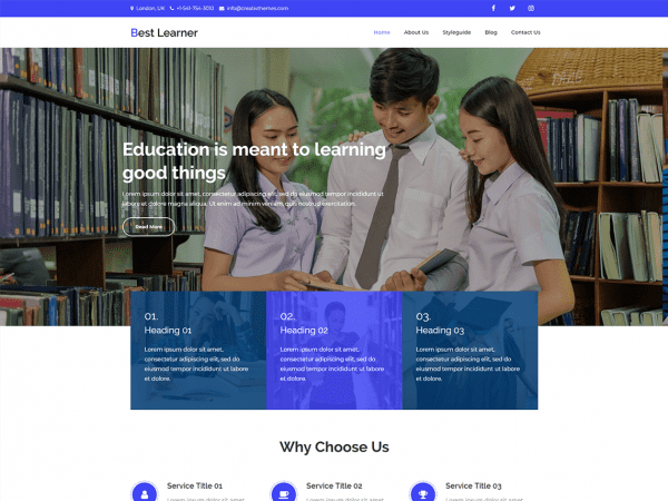 Free Best Learner WordPress theme