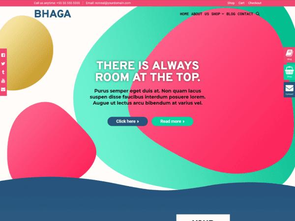 Free Bhaga WordPress theme