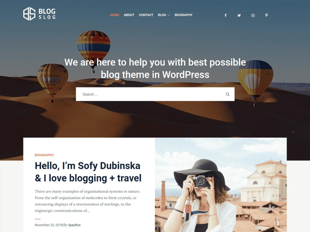 Free BlogSlog WordPress theme