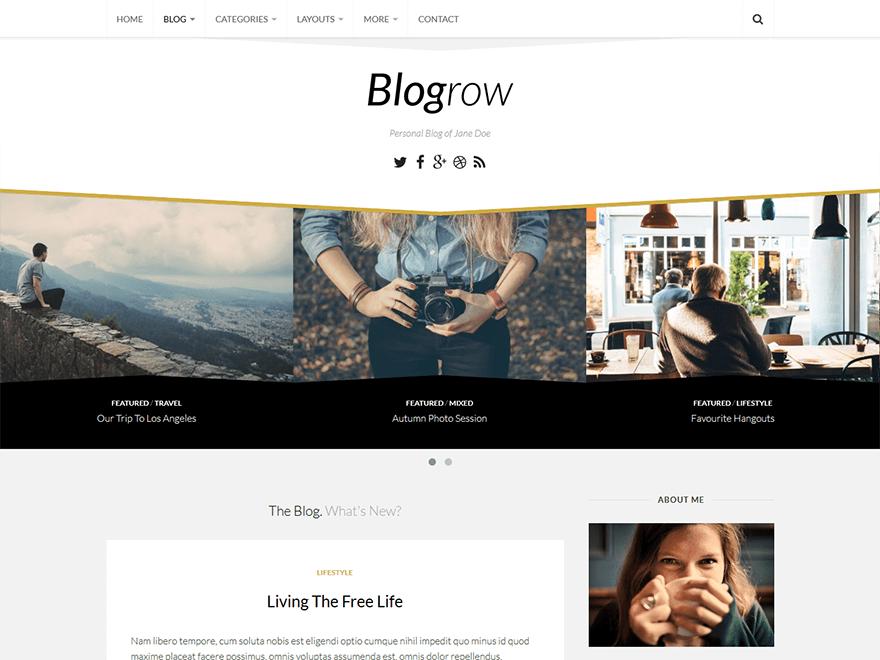 Free Blogrow WordPress theme