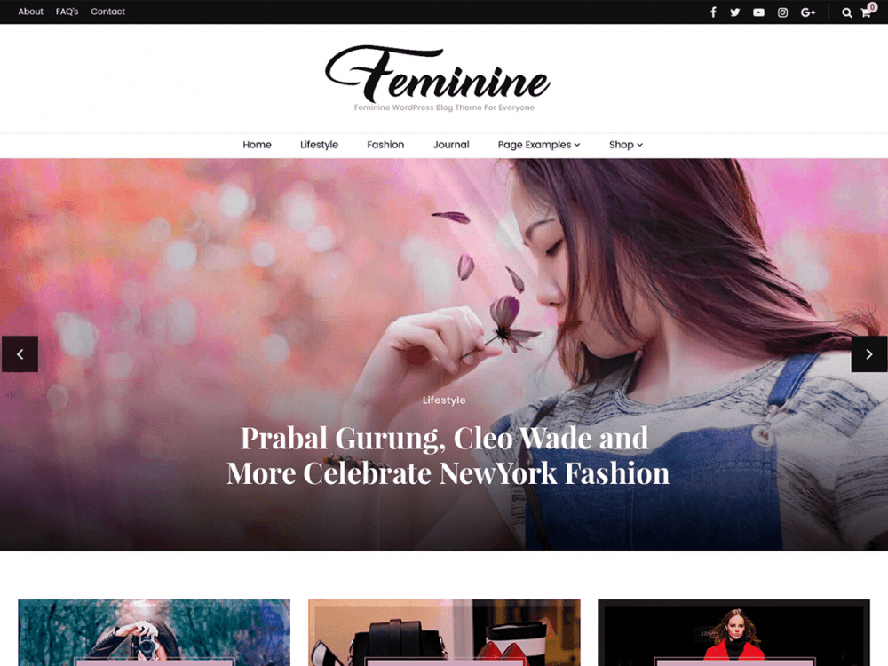 Free Blossom Feminine WordPress theme