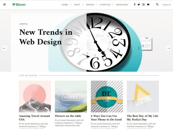 Free Wordpress themes for ecommerce wordpress website and