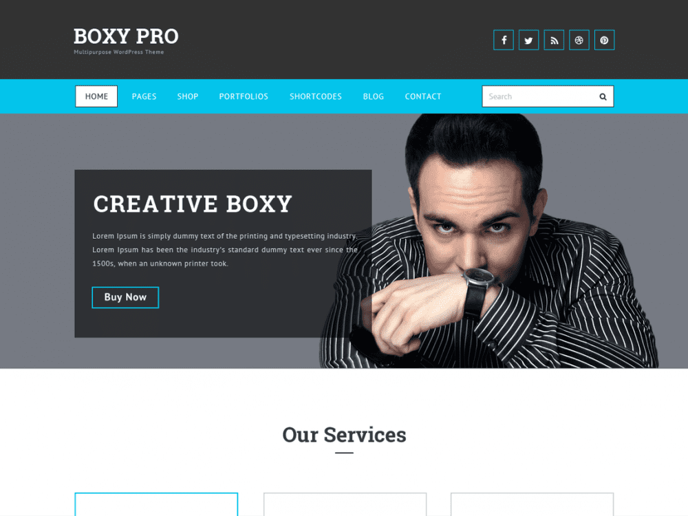 Free Boxy WordPress theme