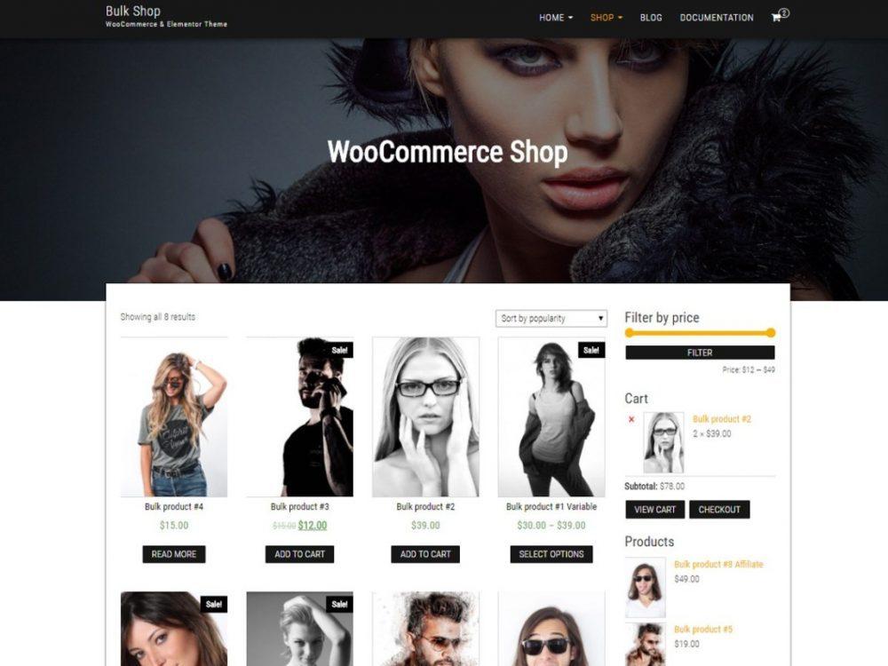 Free Bulk Shop WordPress theme