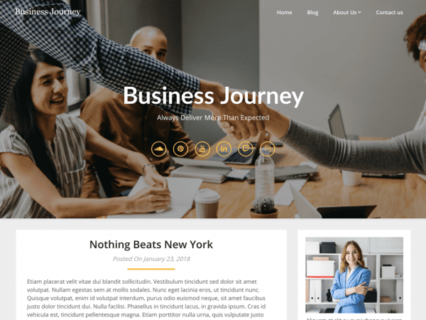 Free Business Blogily WordPress theme
