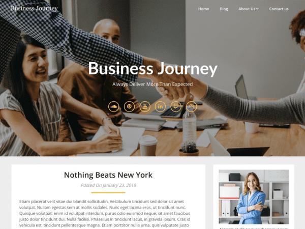 Free Business Blogily WordPress theme