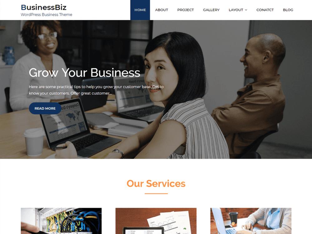 Free Businessbiz WordPress theme