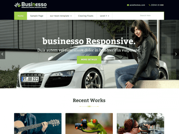 Free Businesso WordPress theme