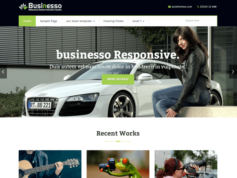 Free Businesso WordPress theme