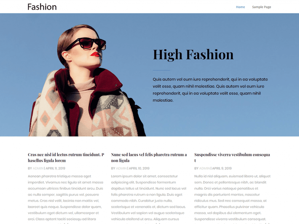 Free CGS Fashion Trend WordPress theme