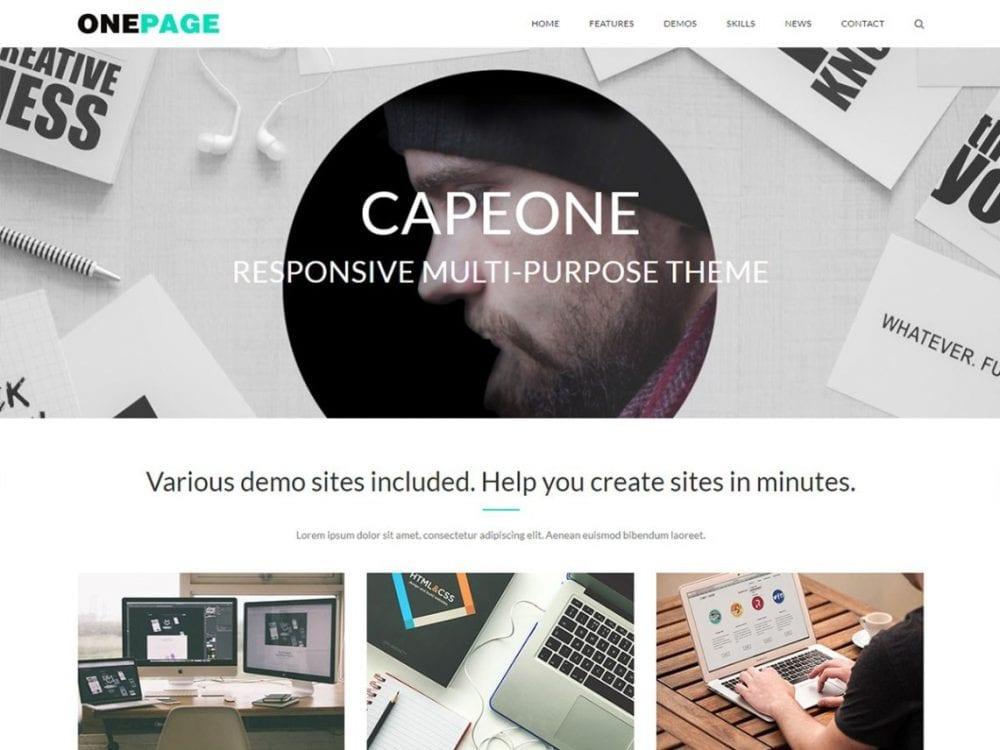 Free CapeOne WordPress theme