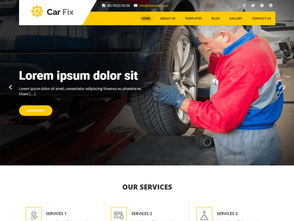 Free Car Fix Lite WordPress theme